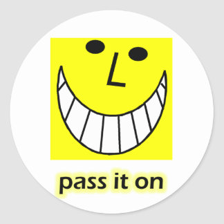 Pass it on round stickers