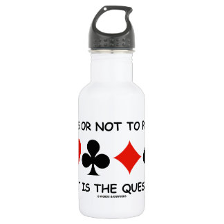 Pass Or Not To Pass That Is The Question (Bridge) 18oz Water Bottle