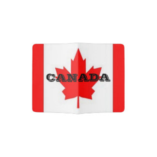 Pass Port holder with Canadian Flag
