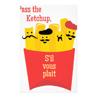 Pass The Ketchup Personalized Stationery