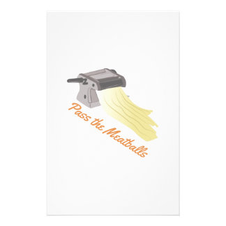 Pass The Meatballs Custom Stationery