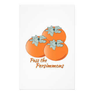 Pass The Persimmons Stationery Paper
