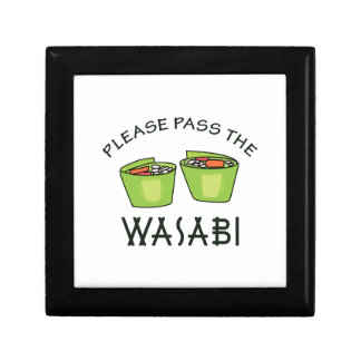 PASS THE WASABI SMALL SQUARE GIFT BOX
