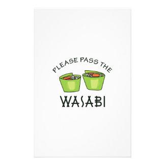 PASS THE WASABI STATIONERY
