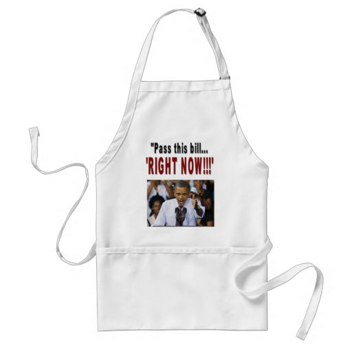 """""""Pass this bill...'RIGHT NOW!!!' Apron"""