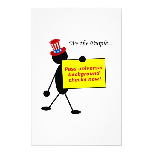 Pass Universal Background Checks Now Stationery Paper