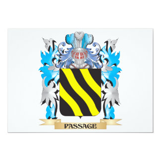 Passage Coat of Arms - Family Crest 13 Cm X 18 Cm Invitation Card