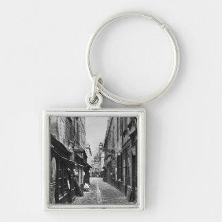 Passage de la Petite Boucherie Silver-Colored Square Key Ring