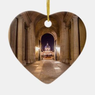 Passage in Louvre to bridge of arts in Paris Christmas Ornament