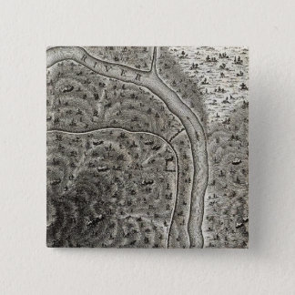 Passage of a Branch of the river Juniata 15 Cm Square Badge