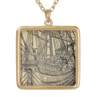 Passage on a Trading Ship Gold Plated Necklace
