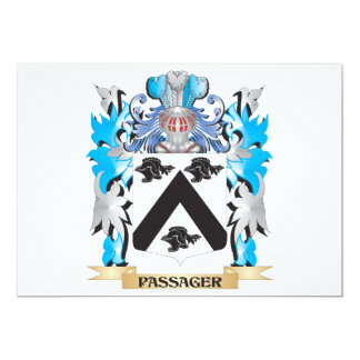 Passager Coat of Arms - Family Crest 13 Cm X 18 Cm Invitation Card