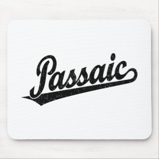 Passaic script logo in black distressed mouse pads
