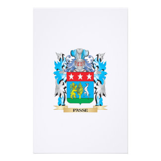 Passe Coat of Arms - Family Crest Stationery