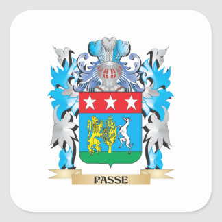 Passe Coat of Arms - Family Crest Square Stickers