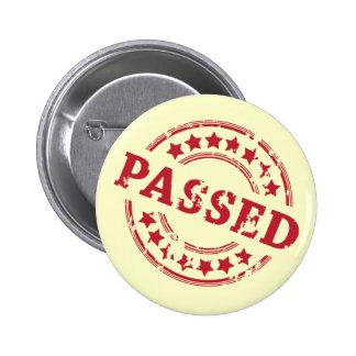 Passed 6 Cm Round Badge