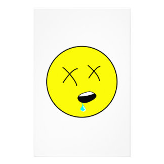 Passed Out Smiley Face Cartoon Personalised Stationery