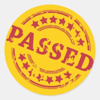 Passed Round Sticker