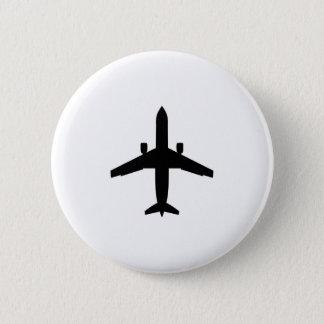 passenger Aeroplane 6 Cm Round Badge