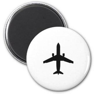 passenger Aeroplane 6 Cm Round Magnet
