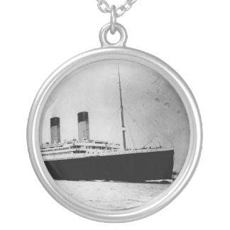 Passenger Liner Steamship RMS Titanic Round Pendant Necklace