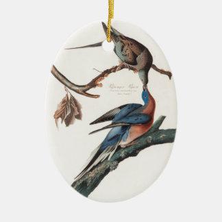 Passenger Pigeon (1838) John J. Audubon Ceramic Oval Decoration