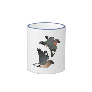 Passenger Pigeon Flight Ringer Coffee Mug