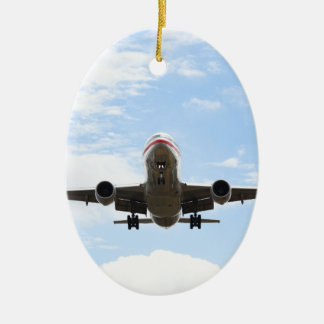 Passenger Plane Ceramic Oval Decoration