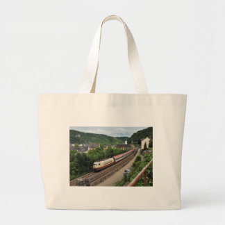 Passenger train in St. Goar Large Tote Bag