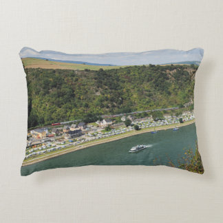 Passenger train to the Loreley Decorative Cushion