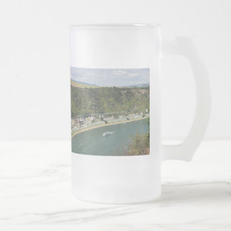 Passenger train to the Loreley Frosted Glass Beer Mug