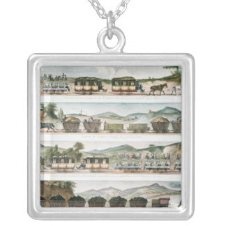 Passengers and freight the first French line Silver Plated Necklace