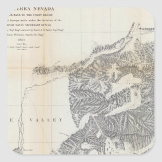 Passes, Sierra Nevada, Walker's Pass Coast Range Square Sticker