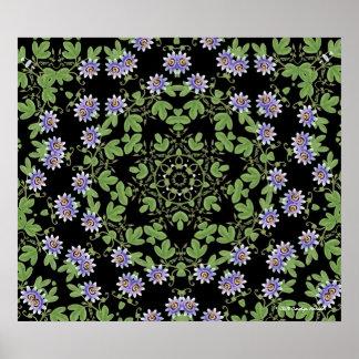 Passiflora Geometric Floral Print