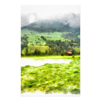 Passing by a beautiful Swiss landscape Customised Stationery