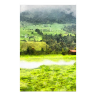 Passing by a beautiful Swiss landscape Personalised Stationery