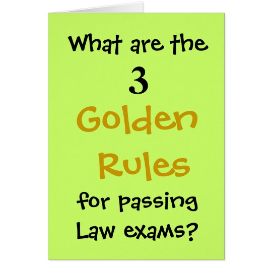 Passing Law Exams - Congratulations Joke Card