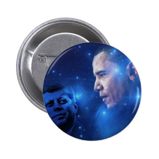 Passing of the Torch, John F. Kennedy Barack Obama 6 Cm Round Badge