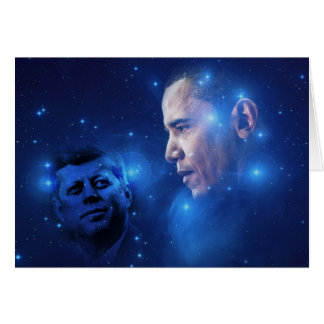 Passing of the Torch, John F. Kennedy Barack Obama Card
