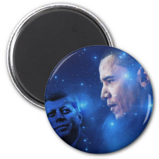 Passing of the Torch, John F. Kennedy Barack Obama Magnet