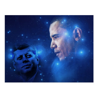 Passing of the Torch, John F. Kennedy Barack Obama Post Card