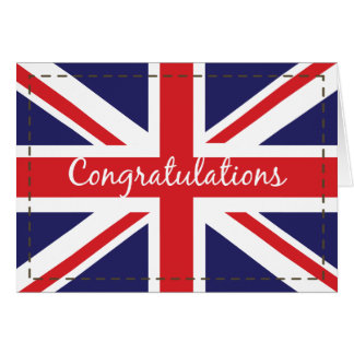 Passing Out, British Army Flag Congratulations Greeting Card