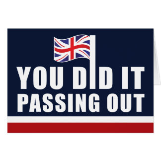 Passing Out British Navy Blue White Red Congrats Greeting Card