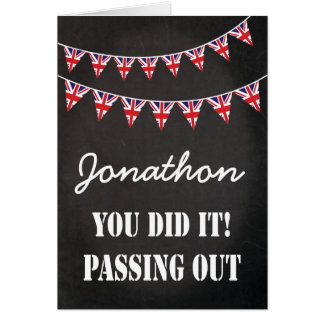 Passing Out Bunting Parade British Army Congrats Greeting Card