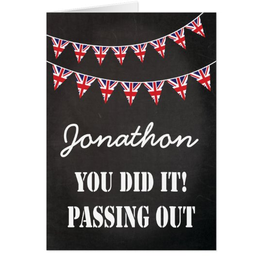 Passing Out Bunting Parade British Army Congrats Card