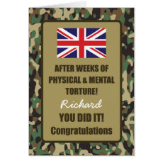 Passing Out Camouflage British Army Badge Congrats Card