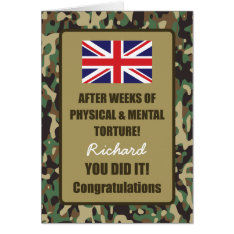 Passing Out Camouflage British Army Badge Congrats Greeting Card at Zazzle
