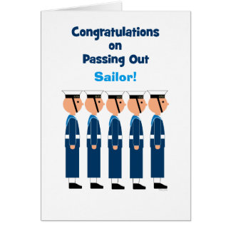 Passing Out Congratulations British Naval College Greeting Card