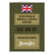 Passing Out Parade, British Army Badge Congrats Card