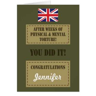 Passing Out Parade, British Army Badge Congrats Greeting Card